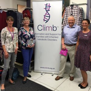 Climb founders Lesley and Peter Greene, with Penny Lewis and Glenys from M&Co Nantwich
